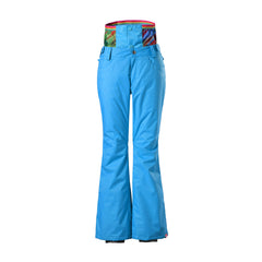 Gsou Snow Thermal Warm High Waterproof Windproof Blue Women's Ski Pants/Snow Pants