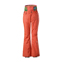 Gsou Snow Thermal Warm High Waterproof Windproof Orange Women's Snowboard/Snow Pants Front