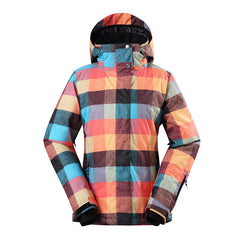 Gsou Snow Thermal Warm Waterproof Windproof Colorful Women's Ski Jackets Front