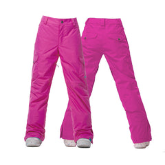 Gsou Snow Thermal Warm Waterproof Windproof Rose Red Women's Ski Pants/Snow Pants Front Back