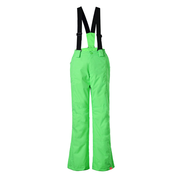 Gsou Snow Waterproof Windproof Polyester Green Snowboard Ski Pants
