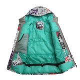 Gsou Snow Waterproof Windproof Thermal Colorful Women's Snowboard Jackets Inside