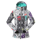 Gsou Snow Waterproof Windproof Thermal Colorful Women's Snowboard Jackets Front