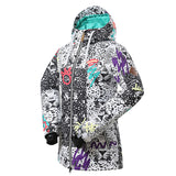 Gsou Snow Waterproof Windproof Thermal Colorful Women's Snowboard Jackets Flank