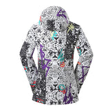 Gsou Snow Waterproof Windproof Thermal Colorful Women's Snowboard Jackets Back