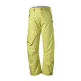 Gsou Snow Waterproof Windproof Yellow Men's Snowboard Ski Pants Front