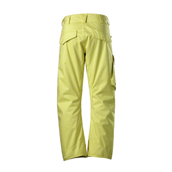 Gsou Snow Waterproof Windproof Yellow Men's Snowboard Ski Pants Back