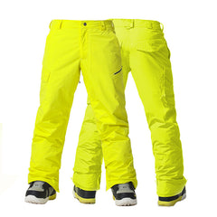 Gsou Snow Windproof Waterproof Mens's Yellow Snowboard Pants&Ski Pants Black