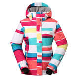 Gsou Snow Women's Colorful Waterproof Windproof Thermal Warm Ski Jackets Front