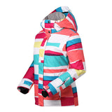 Gsou Snow Women's Colorful Waterproof Windproof Thermal Warm Ski Jackets Flank