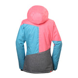 Gsou Snow Women's Colorful Windproof Waterproof Ski/Snowboard Jackets Back
