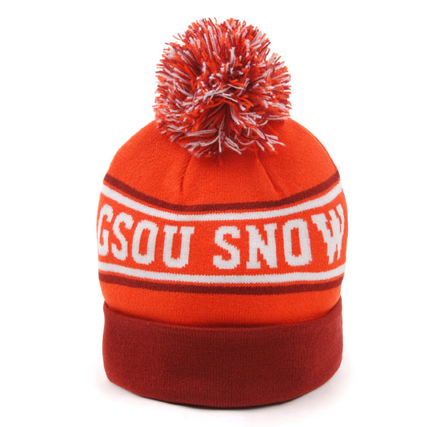 Gsou Snow Kids Striped Knit Beanie Hats Warm Cuff Winter Cap