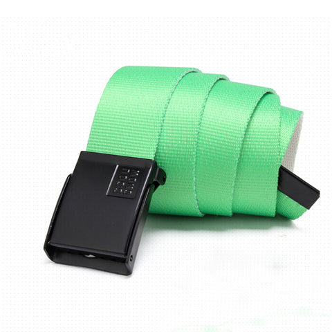 Gsou Snow Unisex Nylon Belts Colorful Modern Nylon Belt For Ski/Snowboard Green Pants