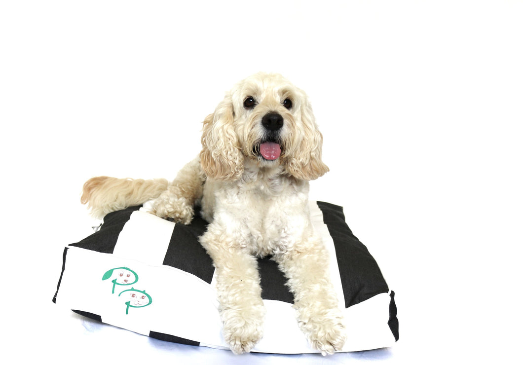 THE HAMPTONS DESIGNER DOG BED - BLACK - Pet Pouch