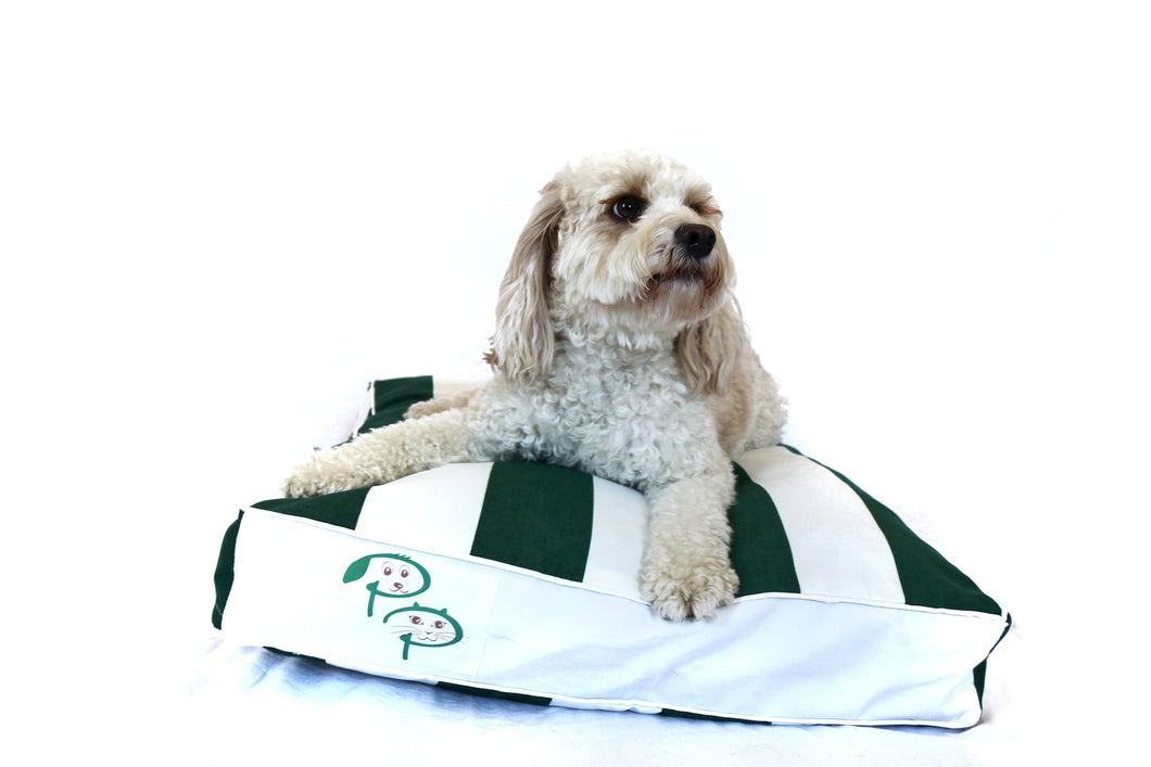 THE HAMPTONS DESIGNER DOG BED - GREEN - Pet Pouch