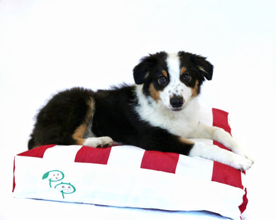 THE HAMPTONS DESIGNER DOG BED - RED - Pet Pouch