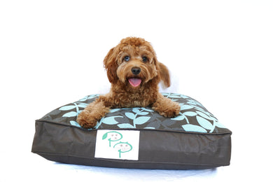 KAPUTUS DESIGNER DOG BED - BROWN & BLUE - Pet Pouch