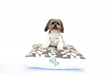 KAPUTUS DESIGNER DOG BED - TAN & WHITE - Pet Pouch