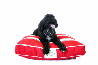 PENINSULA RANGE DESIGNER DOG BED - PORTSEA RED - Pet Pouch