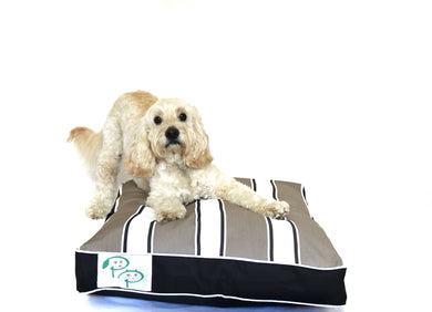 PORTSEA RANGE  DESIGNER DOG BED - ROSEBUD NEUTRAL - Pet Pouch