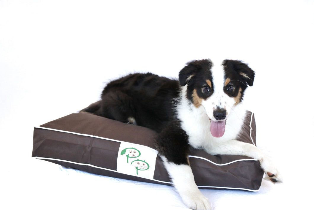 WATERPROOF DESIGNER DOG BED - BROWN - Pet Pouch