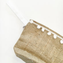 PAWPRINT - HESSIAN CLUTCH BAG - Pet Pouch