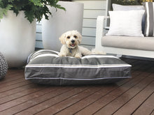 PORTSEA RANGE DESIGNER DOG BED - FLINDERS GREY - Pet Pouch