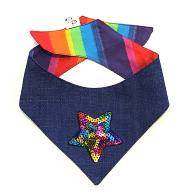 RAINBOW STAR - DOG BANDANA - Pet Pouch