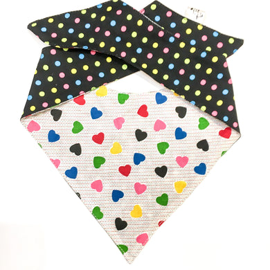 I HEART SPOTS - DOG BANDANA