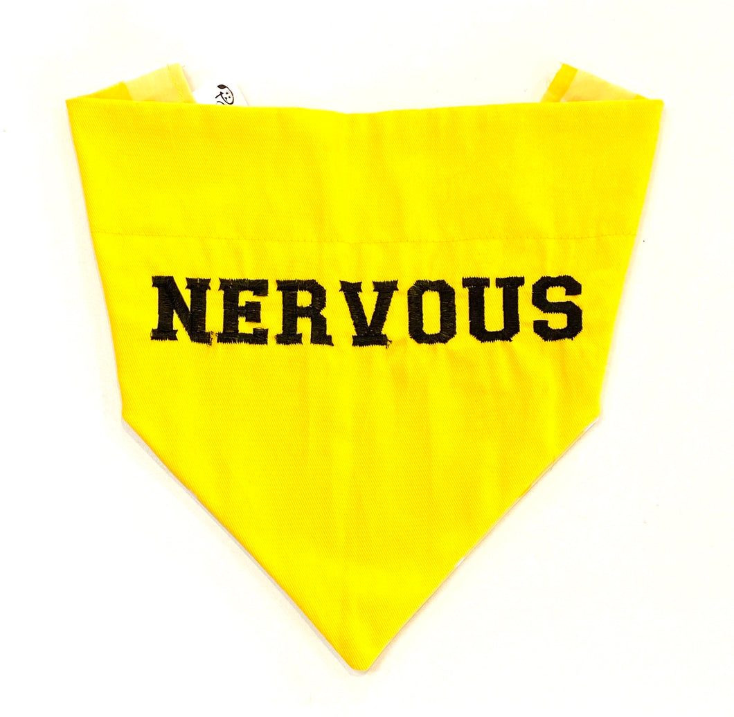 NERVOUS YELLOW - DOG BANDANA (OVER THE COLLAR) - Pet Pouch