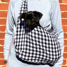 PET POUCH DOG CARRIER - BLACK DOG SLING - Pet Pouch