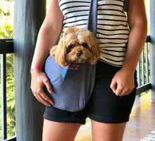 PET POUCH DOG CARRIER - BLUE DOG SLING - Pet Pouch