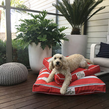 PORTSEA RANGE DESIGNER DOG BED - SORRENTO RED - Pet Pouch