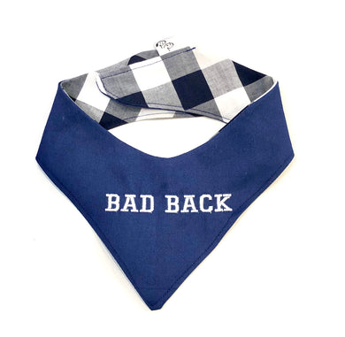 BAD BACK NAVY- DOG BANDANA - Pet Pouch