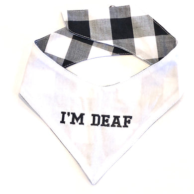 DEAF WHITE - DOG BANDANA - Pet Pouch
