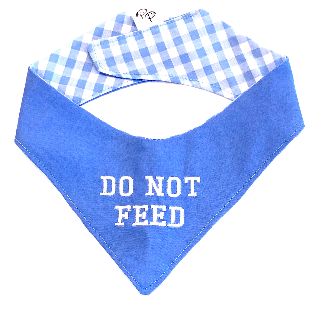 DO NOT FEED BLUE - DOG BANDANA - Pet Pouch