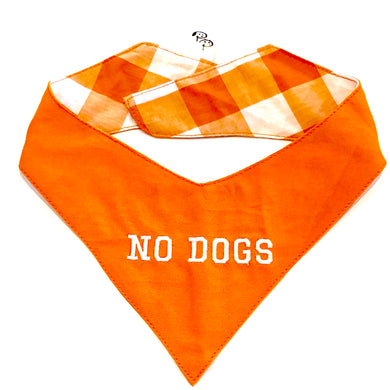 NO DOGS ORANGE - DOG BANDANA - Pet Pouch