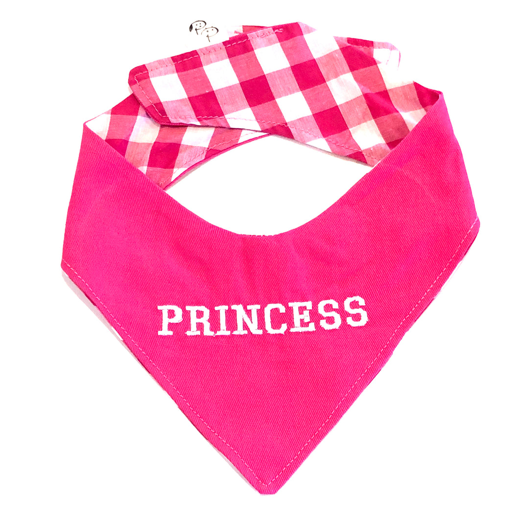 PRINCESS PINK - DOG BANDANA - Pet Pouch