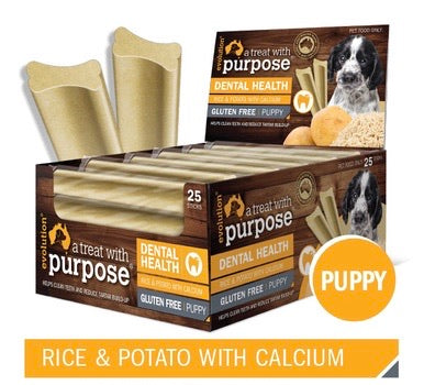 DENTAL STICK - RICE & POTATO WITH CALCIUM (PUPPY) - Pet Pouch