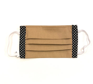 COTTON FACE MASK - MOCHA WITH SPOTS - Pet Pouch
