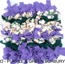 SNUFFLE MAT -  INTERACTIVE DOG TOY (O - PURPLE & GREEN BURBURY) - Pet Pouch