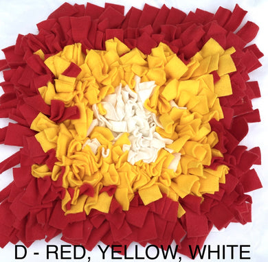 SNUFFLE MAT - INTERACTIVE DOG TOY (D - RED, YELLOW, WHITE) - Pet Pouch