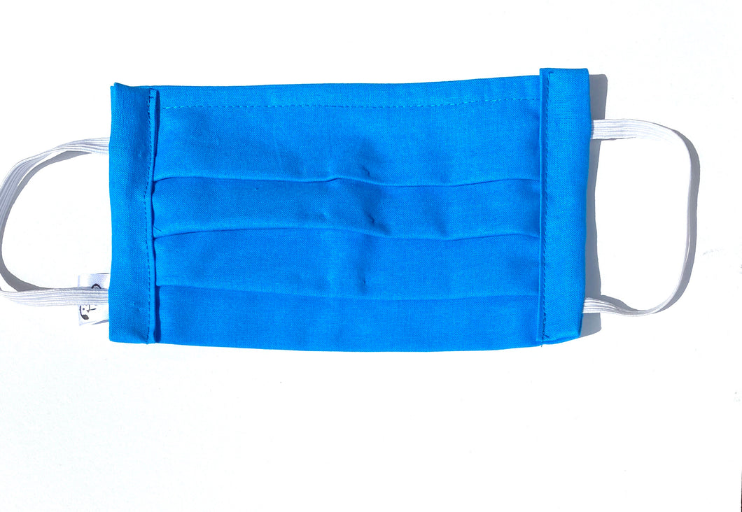 COTTON FACE MASK - AZURE BLUE - Pet Pouch