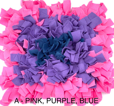SNUFFLE MAT - INTERACTIVE DOG TOY (A -PINK, PURPLE, BLUE) - Pet Pouch