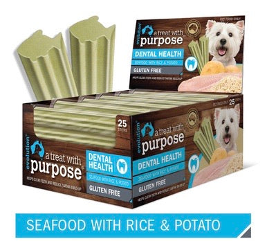 DENTAL STICK - SEAFOOD WITH RICE & POTATO - Pet Pouch