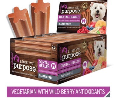 DENTAL STICK - VEGETARIAN WITH WILD BERRY ANTIOXIDANTS - Pet Pouch