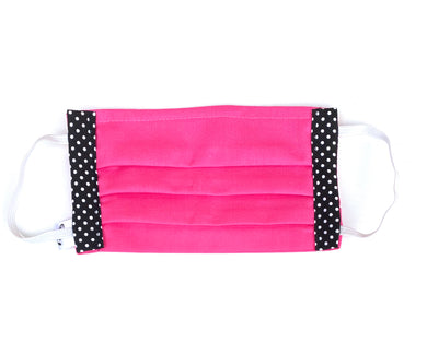 COTTON FACE MASK - HOT PINK WITH SPOTS - Pet Pouch