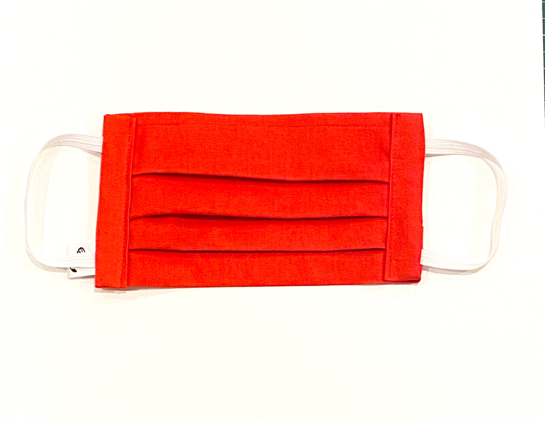 COTTON FACE MASK - RED - Pet Pouch