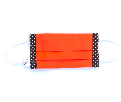 COTTON FACE MASK - ORANGE WITH SPOTS - Pet Pouch