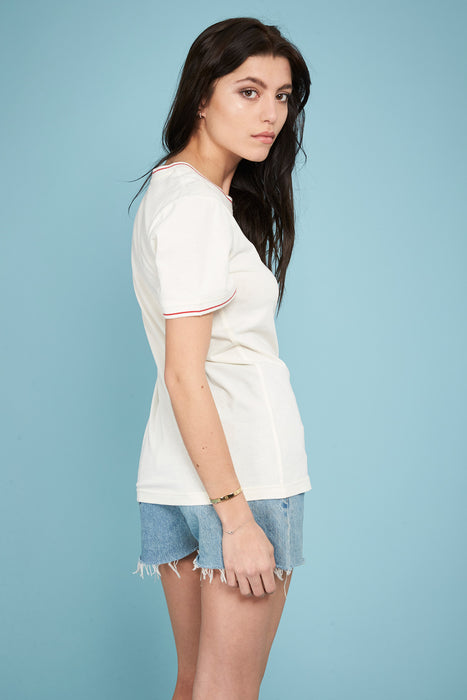 Ribbed T-shirt - Off-white